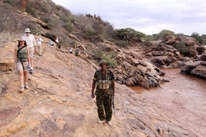 walking the gorge. Shaba