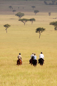 Riding in the Serengeti
