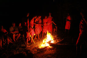 A surpsie dance put on by some masai friends