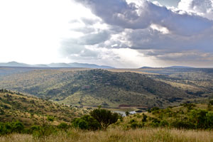 Looking back across the valley at Borana Lodge