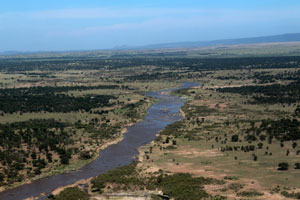 Mara RIver from the air