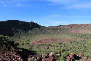 Magado Crater - grren - not a usual state