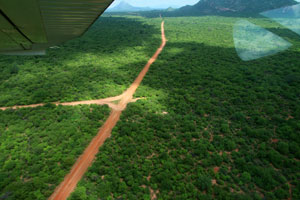 Flying into Tsavo