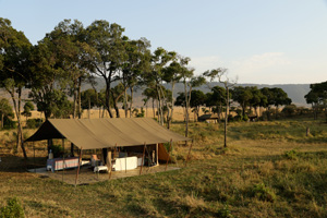 Lowis & Leakey camp in the Mara