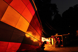 Early moring geting ready for aballoon flight over the Masai Mara