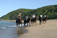 Riding on the beach, Rocktail Bay