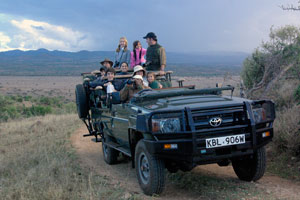 Game drive on Lewa Downs